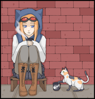 Kitty Wants Coffee by ehcs