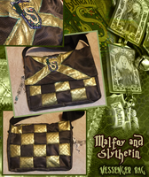 Slytherin Messenger Bag by tavington