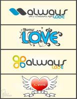 Always Love logos by saltshaker911