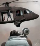 Tseng and a captured Aeris in a helicopter by lucife56