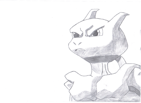 Mewtwo from the movie including shading by psychowolf11
