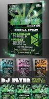 DJ Disco Music Party Flyer by KoolGfx