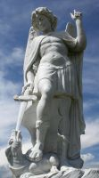 Mount Olivet Cemetery Archangel Michael 275 by Falln-Stock