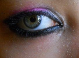 Black, Pink and White eyeshadow by BabyImMeee