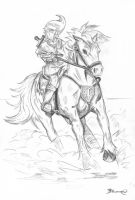 Link and Epona by AmaiRin