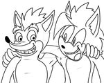 Bandicoot brothers WIP by NeshBearWorks