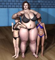 BBW vs Skinnies by suneeeel