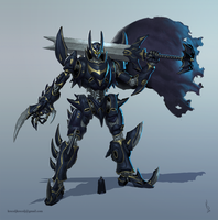 Batman Super Robot Mech by TestosteronMan