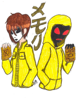 POSTER DESIGN: Kanji- Memory (Masky and Hoodie) by InvaderIka
