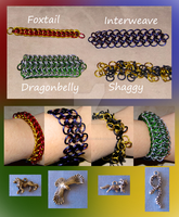 Hogwarts Houses -- Themed Chainmaille Options by NebulaDraconian