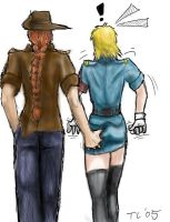Pip and Seras taking a stroll by Tristikov