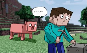 Minecrafts creepy pigs by CiPReZ