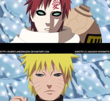 Naruto 475 Naruto and Gaara by DarkFlameDragon
