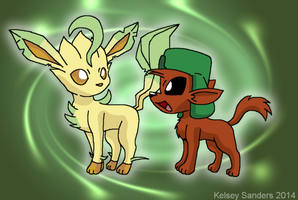 South Park: Kyle and Leafeon by KelseyEdward