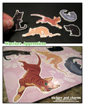 Warriors Apprentice Stickers and Charms here now! by ashkey
