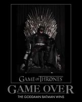 Game Of Thrones Game Over by MexPirateRed