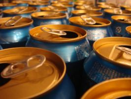 Stock - Empty beer cans 02 by lordmanchae