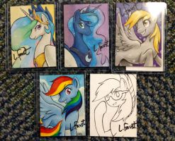 MLP Sketch Cards Signed Editions by AokiBengal
