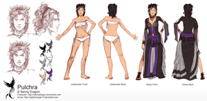 Pulchra Character sheet commis by NightmareGK13