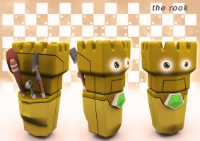 checkmates board game-the rook by deltoiddesign