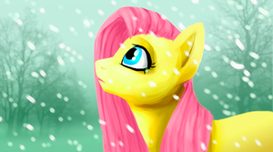 Curious Fluttershy by elkerae