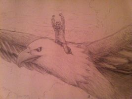 Morgan Freeman on an Eagle by Atteez