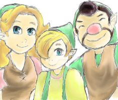 ALBW Hyrule Smith Family by ClaireCherry