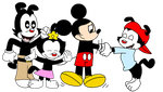 The Warners meets Mickey Mouse by MarcosPower1996