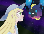 Lillie and Nebby by LSTheNinjaKitten