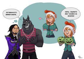 Pumpkins on Halloween by ShliapaRed