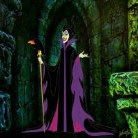 Maleificent in the Halls by snowsowhite