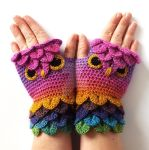Pinktastic Owl Gloves by FearlessFibreArts