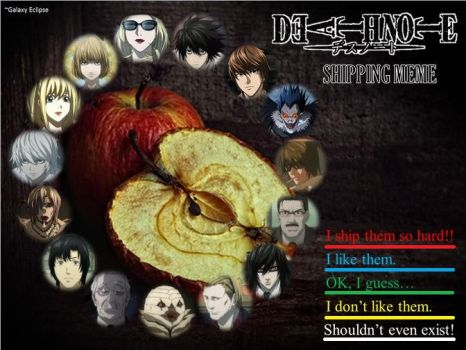 Death Note Shipping Meme by GalaxyEclipse