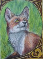 Fox aceo by Schiraki