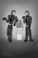 Water Cooler Conversations (Sketch for CHOCO-D) by KingDvo