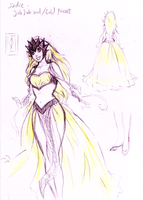 W-T: Gold Princess - Sadie Skye -Concept by Zedela