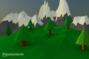Mountains and Trees by Plazmotech