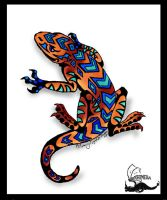 Lizard Tattoo 2 by Khimera