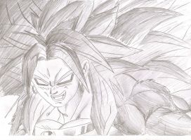 Super Saiyan 5 Broly Close Up by ozbushido