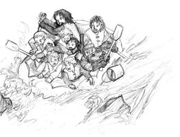 The Fellowship Rafting by jameson9101322