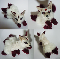 SOLD - Three tailed Gem kitsune - small floppy by goiku