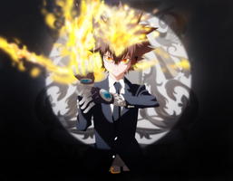 khr tsuna color by afran67(commissions for Juhiko) by afran67