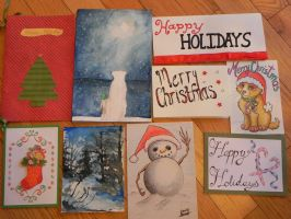 Your cards for the Holiday Card Project 2014-1 by Lou-in-Canada