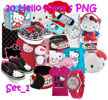 20 Hello Kitty's Png Set1 by JEricaM