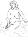 Sitting nude 12-03-2014 by Phinnimonster