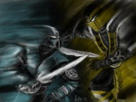 Scorpion vs. Sub-Zero by LetticiaMaer