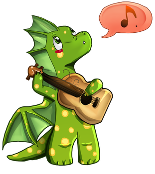 Play the guitar for us dragon by LohiAxel