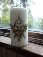 Tall Henna Candel 1 by flowerwills