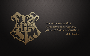 Hogwarts crest with quote by kybrdgal