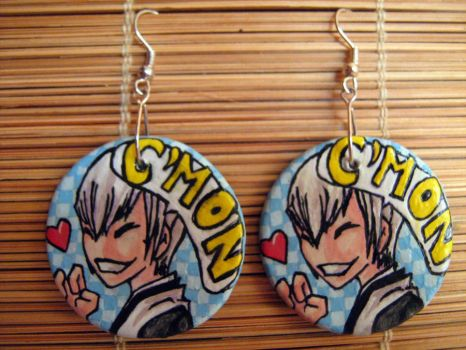 Gin Ichimaru earrings by Alcadeea